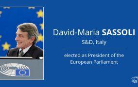 David-Maria Sassoli, ales preşedinte al Parlamentului European